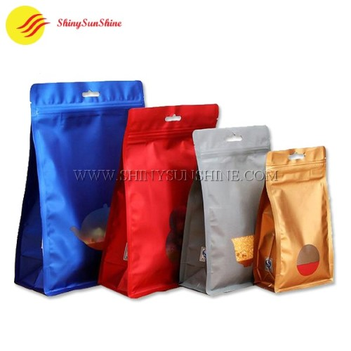 8 side sealed zip lock packaging Mylar bags