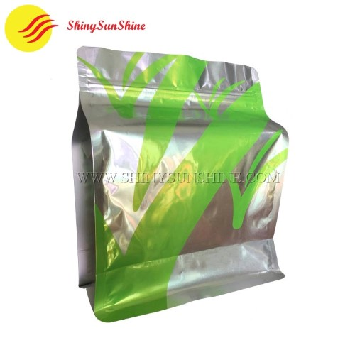 Shiny SunShine Custom printed laminated aluminum foil flat bottom packaging bags.