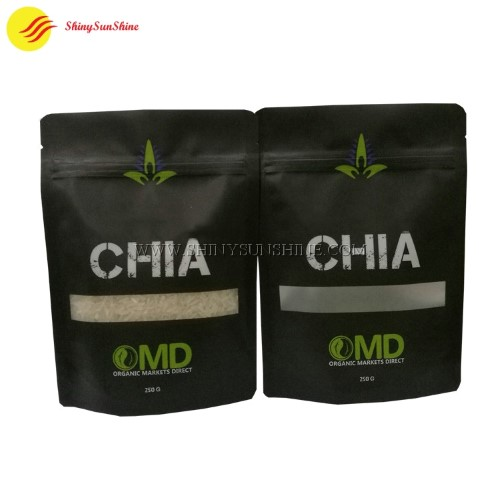 Custom plastic food & seeds printed packaging bags with food grade material.