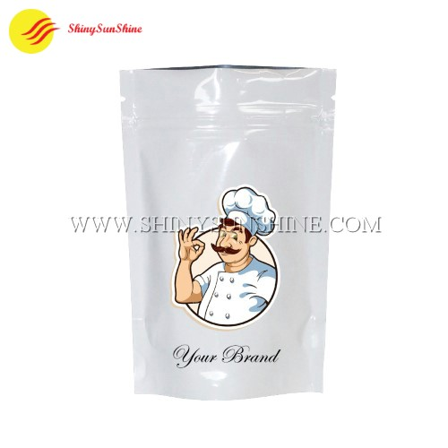 Custom Mylar food zip lock stand up pouch