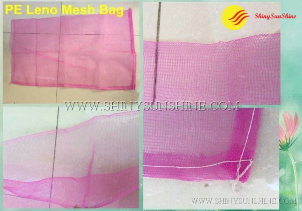 Shiny SunShine PE Leno Custom mesh bags for food packaging