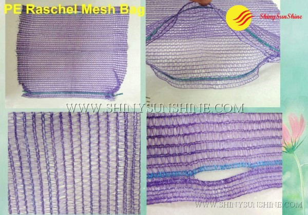 Shiny SunShine Custom PE Raschel mesh bags for food packaging