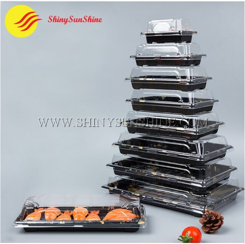 Custom plastic Sushi food packaging container boxes logos & design.