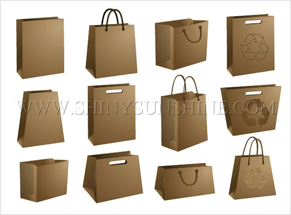 Shiny SunShine custom paper bag types.
