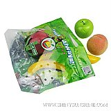 Custom plastic food packaging bags for fresh fruits with food grade material.