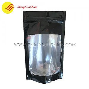 Custom aluminium foil zipper bag with windows