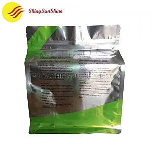 Custom printed laminated aluminum foil flat bottom packaging bags.