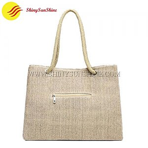 Custom high quality jute shopping tote bags