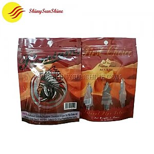 Custom printable plastic tobacco zip lock self standing pouch packaging bags.