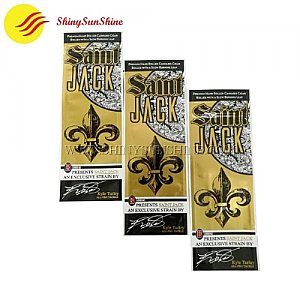 Custom printable plastic foil cigar zip lock packaging wrap bags.