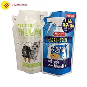 Custom printable special shaped standing liquid stand up pouch packaging bags.