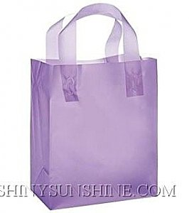 Custom plastic shopping bags with handle.