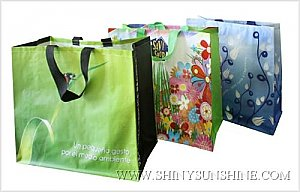 Custom PP Woven recycle bags with logo design.