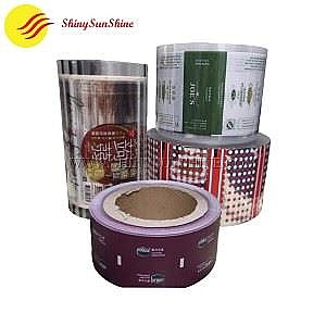 Custom label brand printable plastic packaging roll film bags.